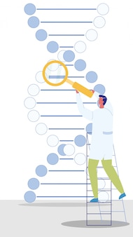 Genetic engineer character vector illustration