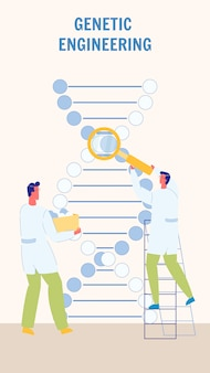 Genetic engineering flat vector flyer template