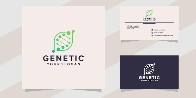 Genetic logo template on modern