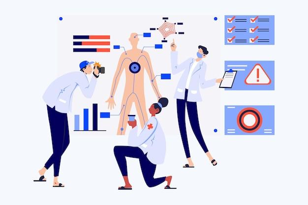 Genetic research illustration