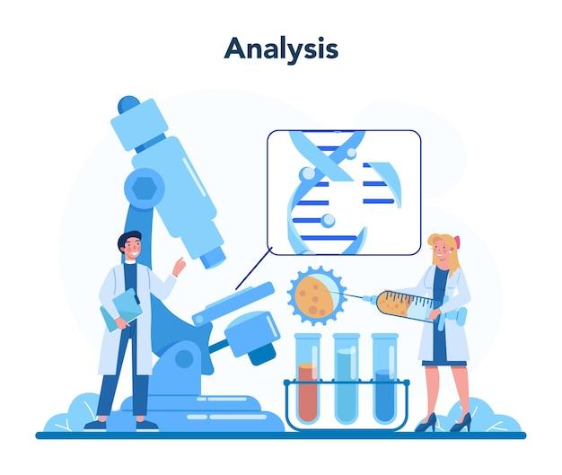 漫画スタイルの遺伝学者の概念図