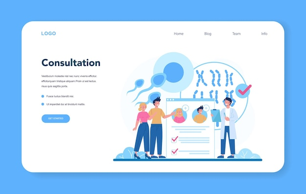 Geneticist web banner or landing page.