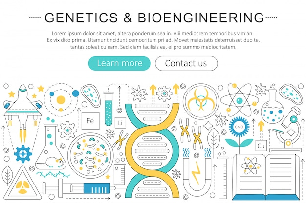 Genetics and bioengineering concept