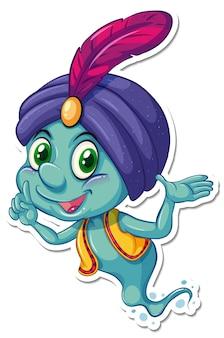 Adesivo personaggio dei cartoni animati genio in aladino