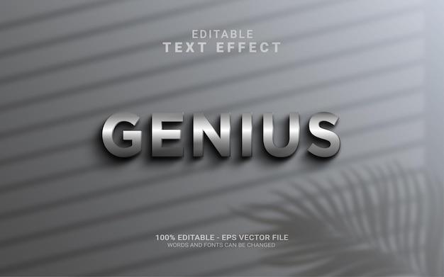 Genius3dリアルなスチール壁編集可能なテキストスタイル効果