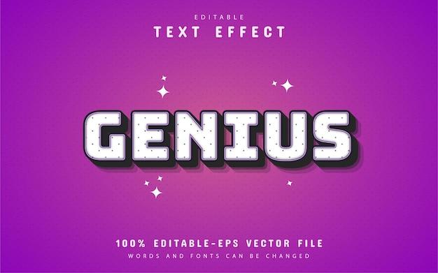 Genius 3d text effect Premium Vector