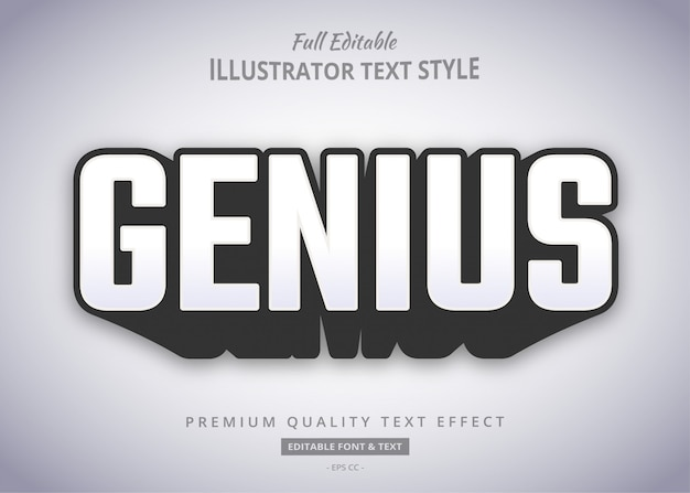 Эффект стиля genius bold shadow text