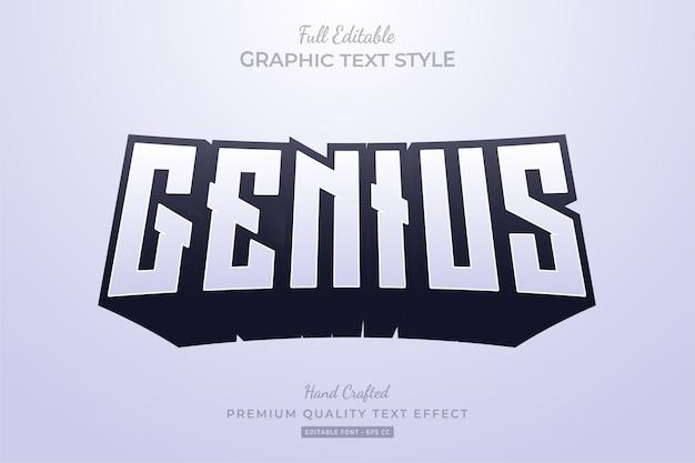 Genius clean long shadow editable premium text effect
