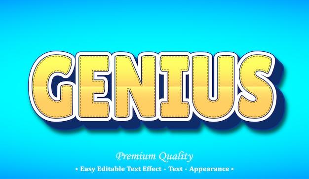 Genius  font style effect