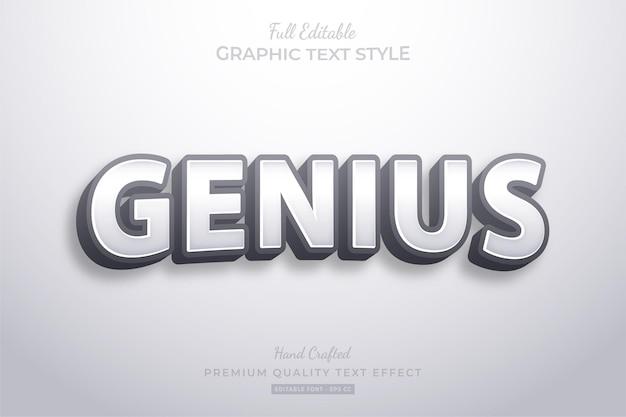 Genius modern premium text effect editable
