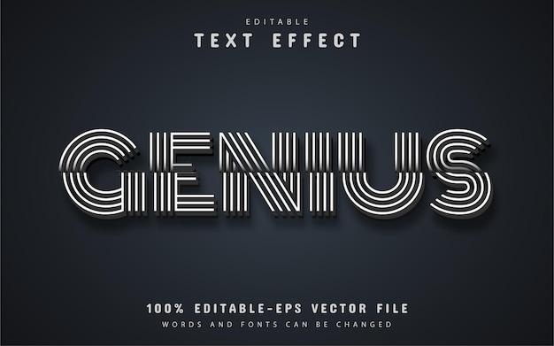 Genius text, editable text effect