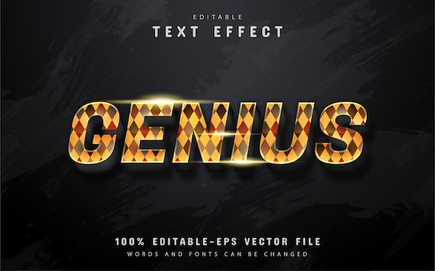 Genius text effect with patterns