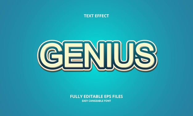 Genius text effect