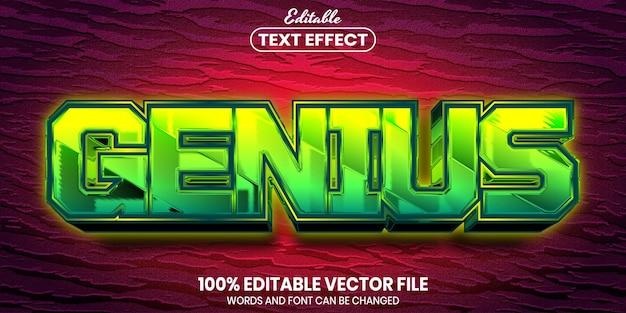 Гениальный текст, редактируемый текстовый эффект в стиле шрифта