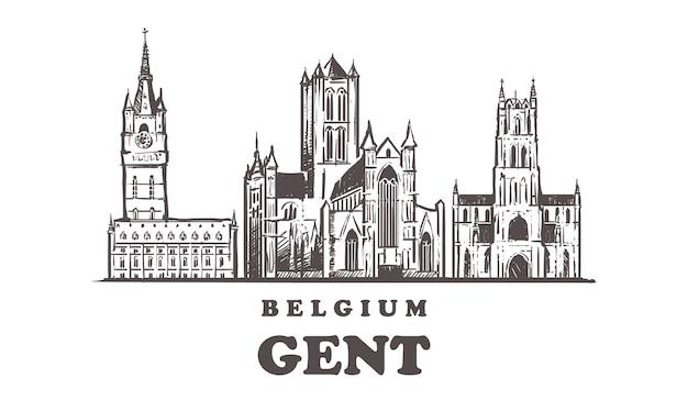 벨기에의 신사 스카이 라인