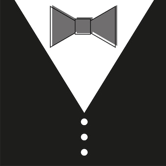 Gentelman. the bow tie - black background for card fathers day