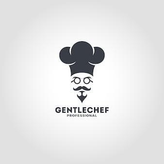 Gentle chef logo template