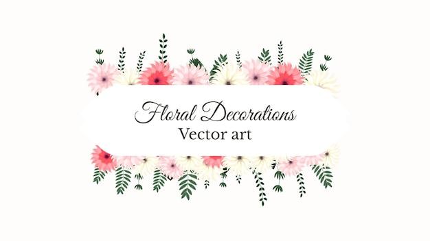 花と穏やかな春の花のブーケフレームヴィンテージグリーティングカード結婚式ソーシャルメディアウェブ