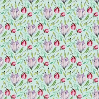 Gentle spring floral raster pattern