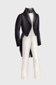 紳士のタキシードベクトルデザイン要素、ヘンリーデウルフによるアートワークからリミックス