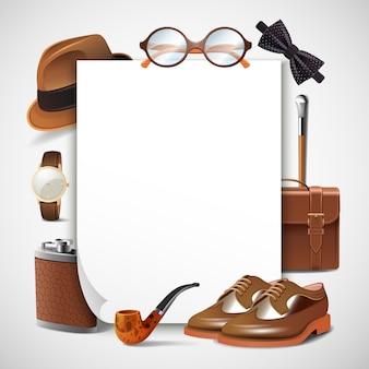 Cornice realistica per accessori da uomo