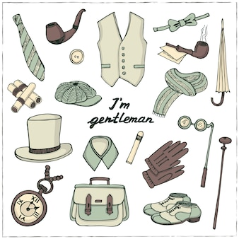 Джентльмен винтажные аксессуары каракули набор
