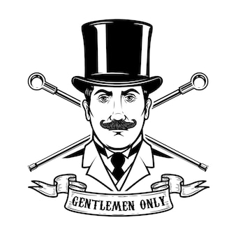 Gentlemen club emblem template.  element for logo, label, emblem, sign.  illustration