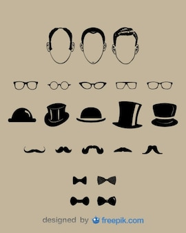 Gentlemen fashion design elements