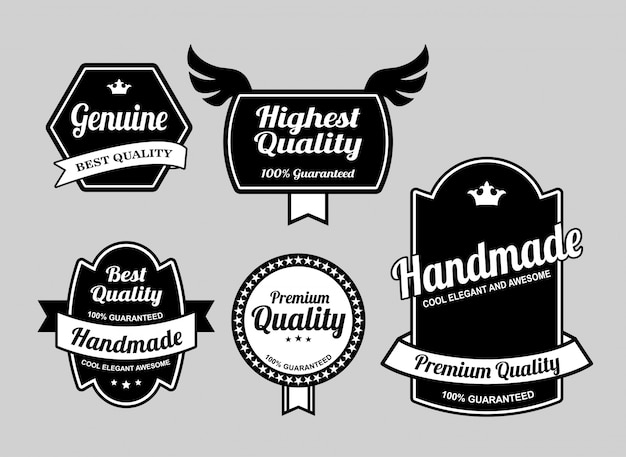 Genuine and best quality label badges.