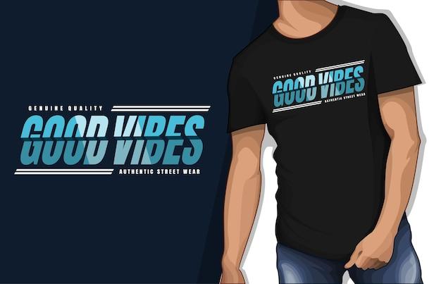 本物の品質の良い雰囲気のタイポグラフィtシャツのデザイン