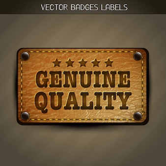 Genuine style leather label