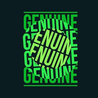Genuine typography