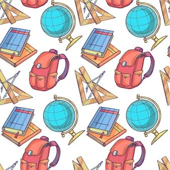 Уроки географии, геометрии и алгебры и школьная сумка