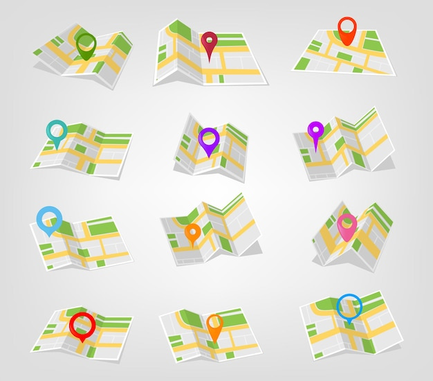 지도상의 지리적 위치 및 위치 표시