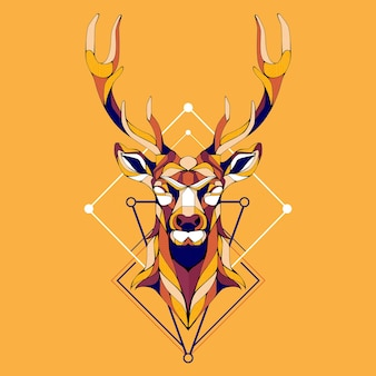 Geomatric design deer vector illustration
