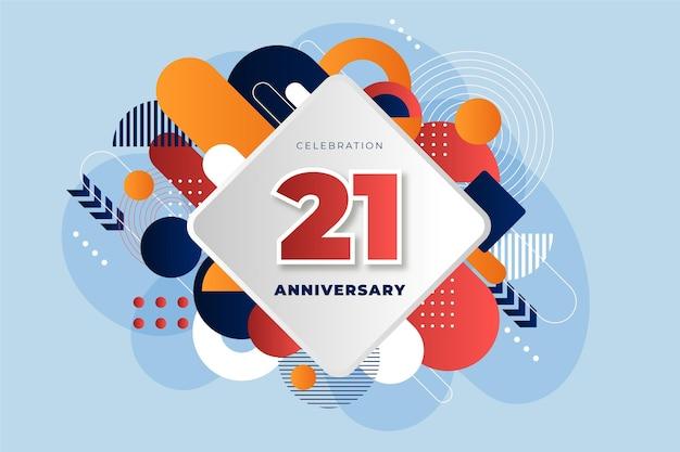 Carta da parati geometrica del 21 ° anniversario