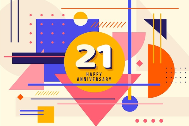 Geometric 21 anniversary wallpaper