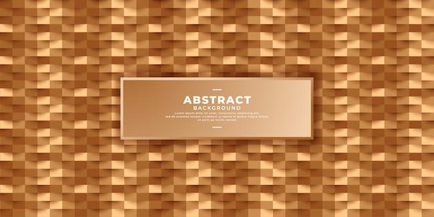 Geometric 3d golden background. Premium Vector
