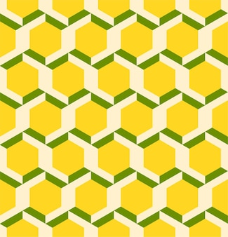 Geometric 3d lines abstract hexagon seamless pattern