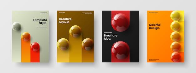 기하학적 3d 분야 회사 브로셔 개념 구성