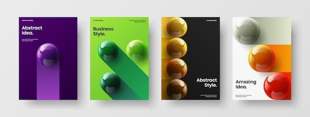 기하학적 3d 분야 기업 표지 컨셉 컬렉션
