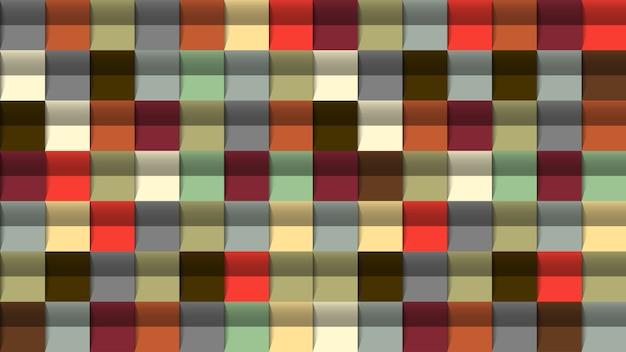 幾何学的な抽象的な背景、3 d効果、レトロな色