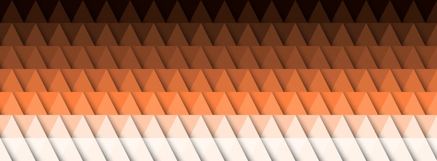 Geometric abstract background, 3d effect, warm colors