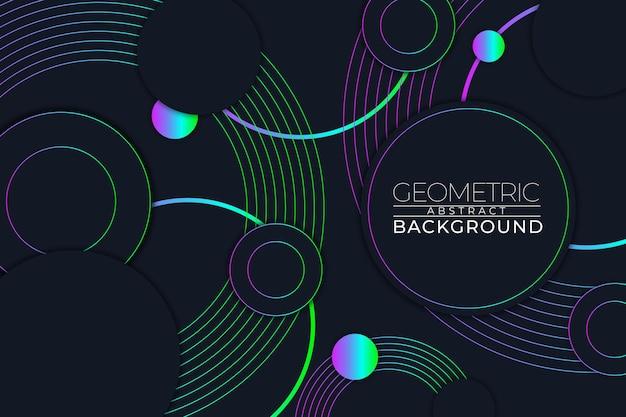 Геометрический абстрактный фон круг в стиле rgb