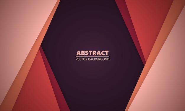色付きの紙のカットラインと幾何学的な抽象的な背景。