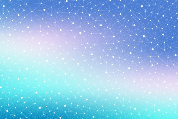Geometric abstract background with connected line and dots. modern stylish polygonal backdrop for your design. vector illustration.