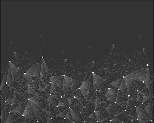 Geometric abstract background with connected line and dots.