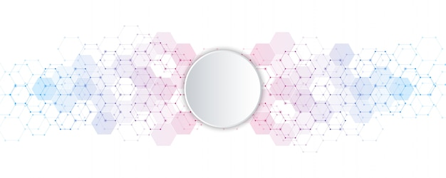 Geometric abstract background with hexagons elements. medical background texture for modern .