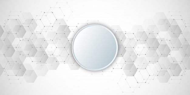 Geometric abstract background with hexagons elements.