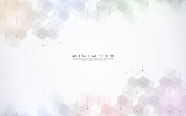 Geometric abstract background with simple hexagonal elements